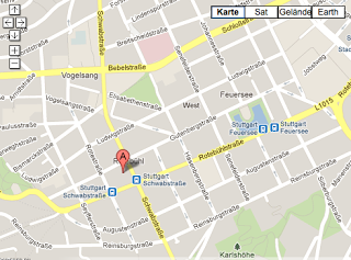 Screen Shot Map Stuttgart