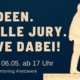 Viele Ideen, eine tolle Jury, Seid Live dabei! Eventflyer des Launch Events