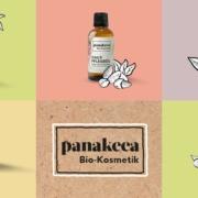 Alle 5 Kosmetikprodukte von panakeea und ihr Logo